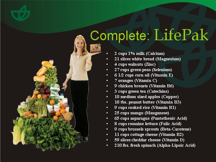 LIFE PAK BENEFITS